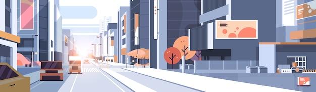Auto guida traffico stradale urbano grattacielo