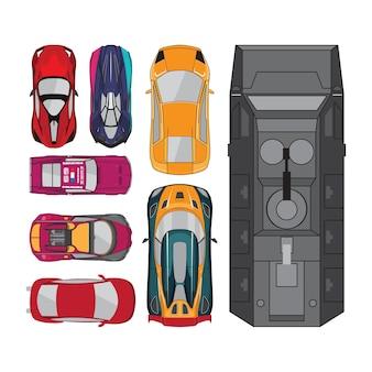 Collezioni di auto vista dall'alto