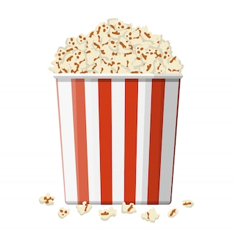 Ciotola di cartone piena di popcorn.