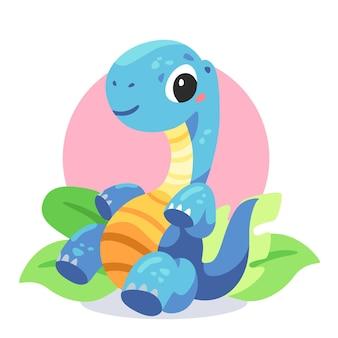 Dinosauro adorabile del bambino del fumetto illustrato