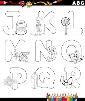 Alfabeto del fumetto per libro da colorare
