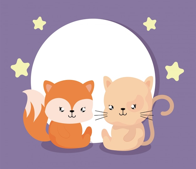 Cartone animato di animales con decorazioni