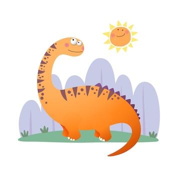 Cartone animato dinosauro argentinosaurus