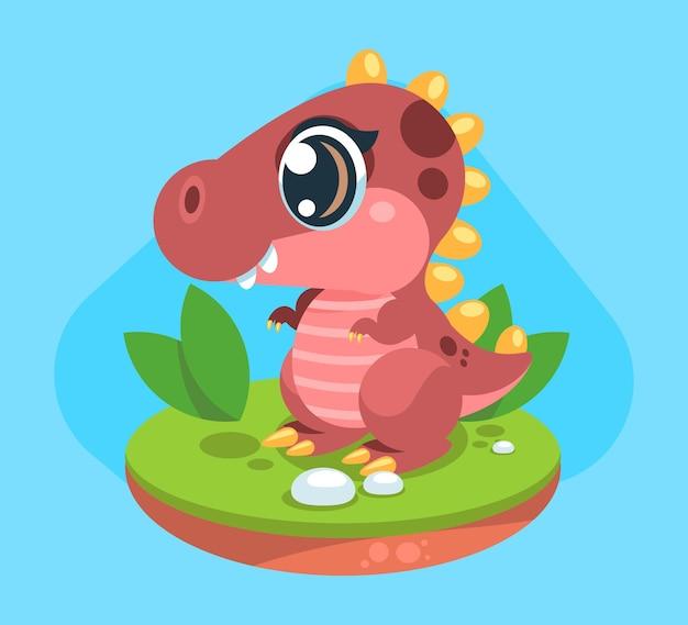 Cartoon baby dinosauro illustrato