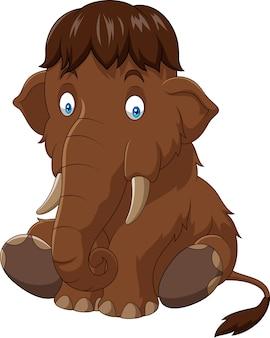 Seduta di mammut del bambino del fumetto