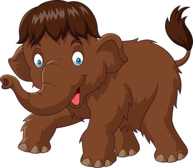 Cartoon baby mammut