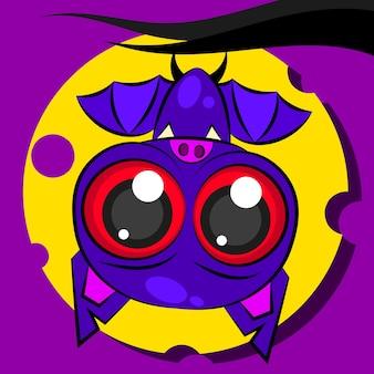Illustrazione di vettore del pipistrello del fumetto. logo per le tue esigenze