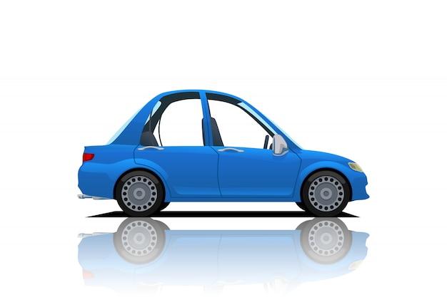 Auto blu dei cartoni animati