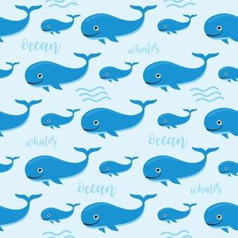 Reticolo senza giunte del fumetto blu balena