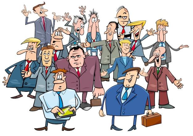 Illustrazione di gruppo di uomini d'affari del fumetto