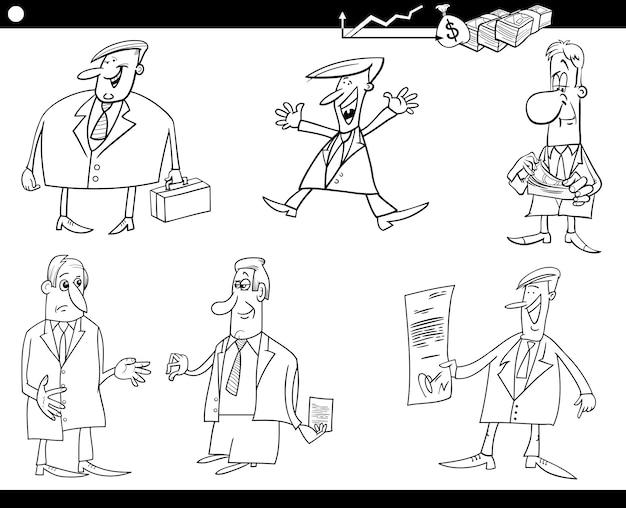 Set di uomini d'affari del fumetto