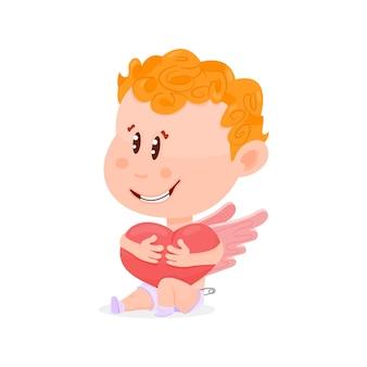 Personaggio dei cartoni animati divertente cupido, il giorno di san valentino.