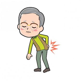 Personaggio dei cartoni animati nonno, lombalgia