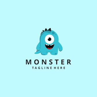 Personaggio dei cartoni animati moderno mostro mascotte logo