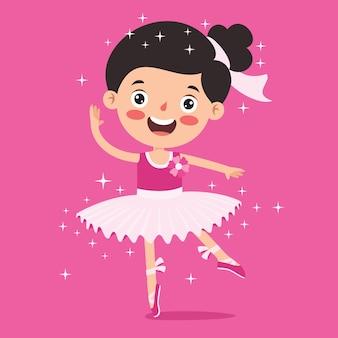 Personaggio dei cartoni animati che esegue balletto classico