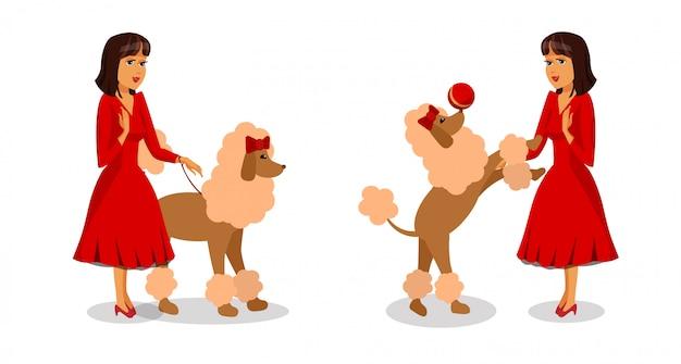 Set di personaggi dei cartoni animati