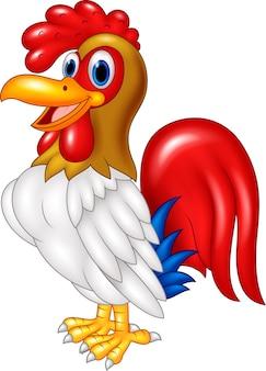 Gallo di pollo del fumetto in posa