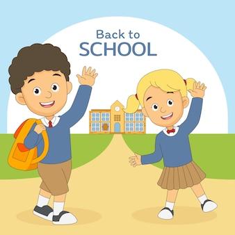 I bambini dei cartoni tornano a scuola