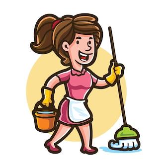 Cartoon cleany maid