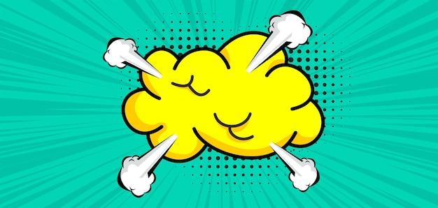 Nuvola di cartoni animati in stile fumetto