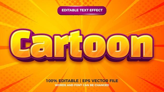 Modello di effetto stile testo modificabile 3d per bambini comici dei cartoni animati