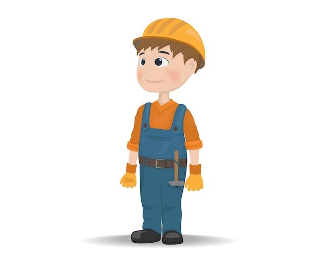 Icona del personaggio di costruzione operaio del fumetto
