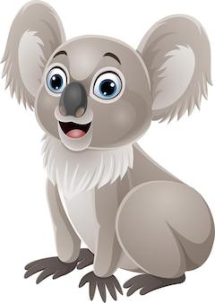 Cartoon carino baby koala seduto