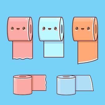 Insieme sveglio della carta igienica del fumetto
