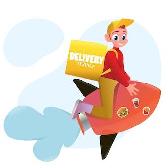 Illustrazione di servizio di consegna del fumetto