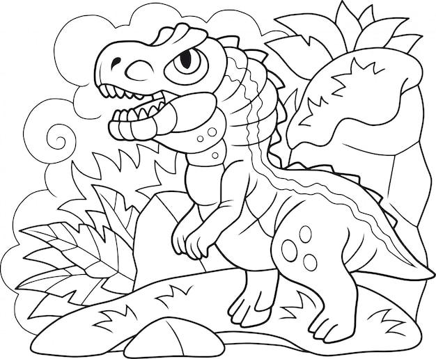 Cartone animato dinosauro allosaurus