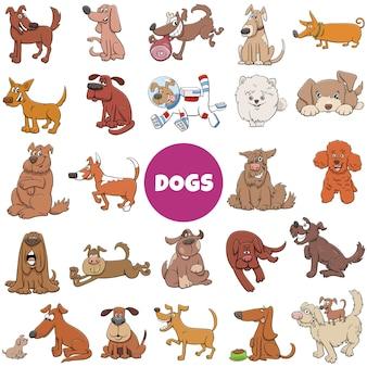 Grande set di cani e cuccioli dei cartoni animati