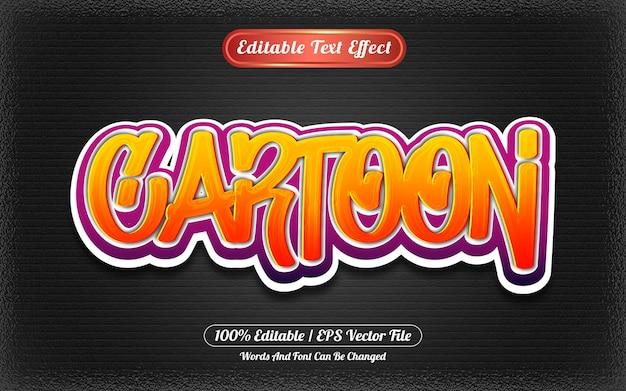 Stile graffiti effetto testo modificabile dei cartoni animati
