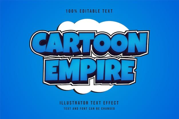 Impero del fumetto, effetto di testo modificabile 3d effetto blu sfumato stile viola