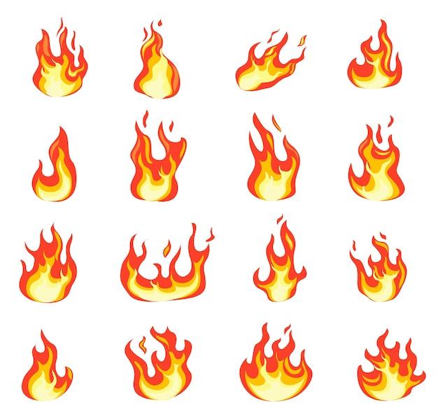 Fiamma di fuoco del fumetto