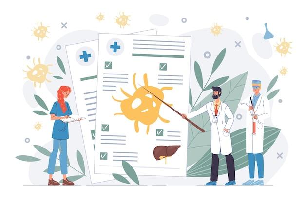 Personaggi dei cartoni animati piatto medico al lavoro in uniforme