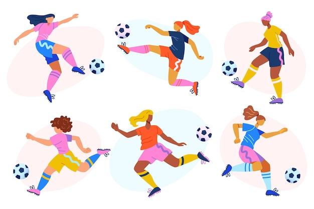 Illustrazione di giocatori di calcio dei cartoni animati