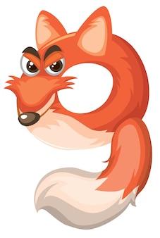 Cartoon numero nove di volpe