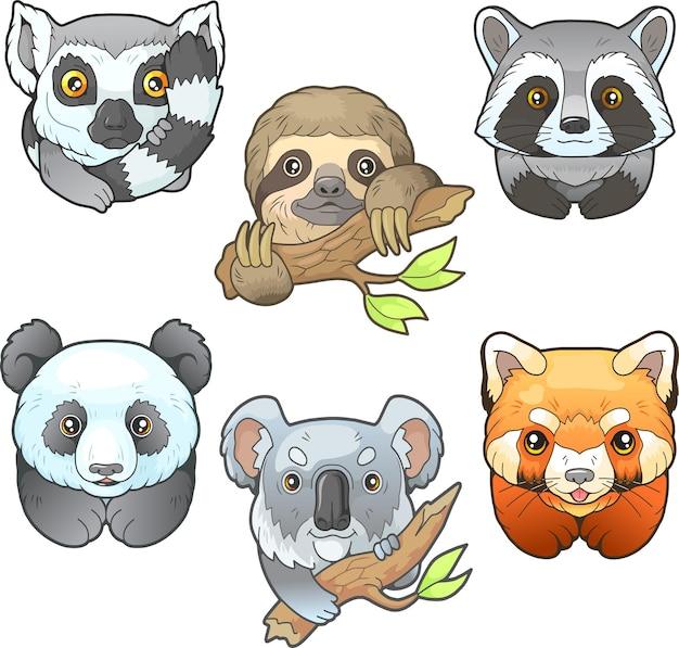 Animali divertenti del fumetto