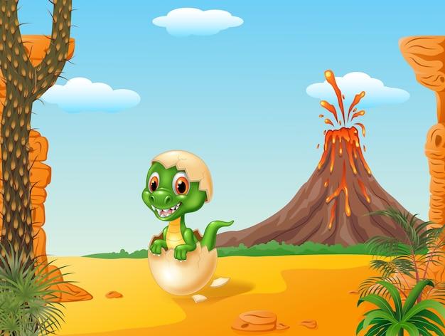 Tirannosauro divertente del tirannosauro del bambino del fumetto