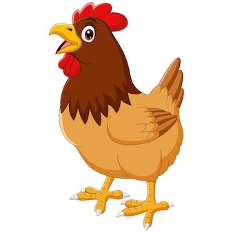 Gallina di pollo divertente del fumetto che canta