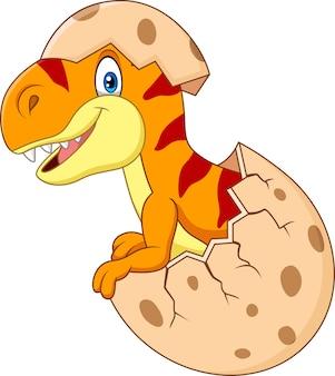 Cartoon divertente dinosauro da cova