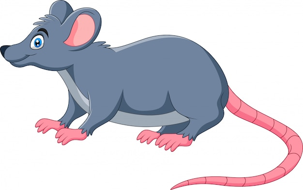 Un topo felice divertente del fumetto