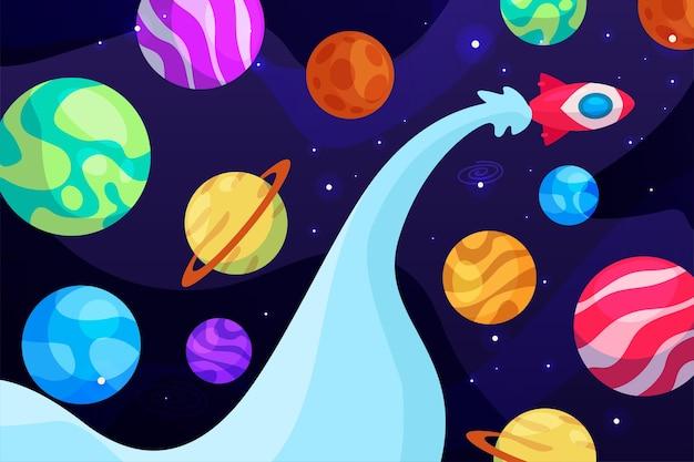 Sfondo di galassia del fumetto cartoon