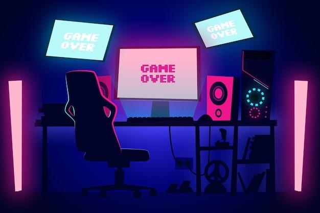 Illustrazione della stanza del giocatore del fumetto