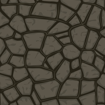 Fondo senza cuciture di pietra grigio del fumetto, modello di struttura
