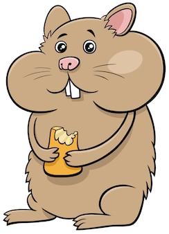 Personaggio animale comico del criceto del fumetto