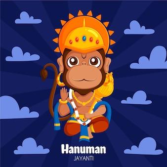 Illustrazione di hanuman jayanti del fumetto