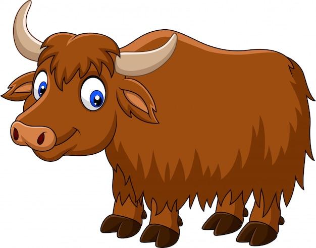 Cartoon felice yak