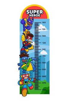 Misuratore di altezza del fumetto illustrato