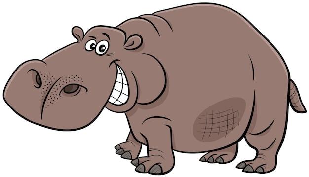 Cartone animato ippopotamo carattere animale selvatico